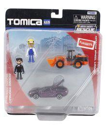 Funskool Tomica Hitachi Wheel Loader & Mitsuoka Orchi