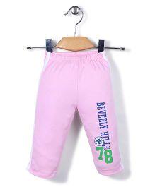 Pink Rabbit Track Pant 78 Print - Light Pink