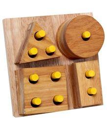 Little Genius - Wooden Shape & Stacking Board