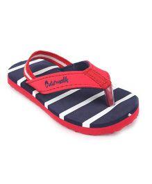 Cute Walk by Babyhug Flip Flops - Blue Red