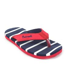 Cute Walk by Babyhug Flip Flops - Blue Red