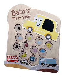 Gifthing Sunshine Vehicles 1st Year Photo Frame With Yellow Car Print