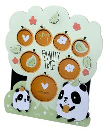 Gifthing Cutie Panda Family Tree Photo Frame - Green