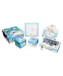 Gifthing My Little King Keepsake Set - Blue And White