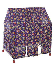 Lovely Play Tent House Stick And Toon Print - Purple