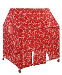 Lovely Play Tent House Mickey Print - Red