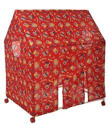 Kids Zone Wonder Play Tent House Teddy Print - Red