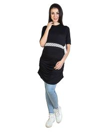 Blush 9 Long Maternity Tunic - Black