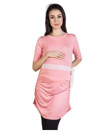Blush 9 Long Maternity Tunic - Strawberry Pink