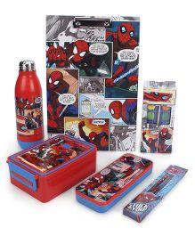 Marvel Spiderman School Kit Pack of 6 - Red