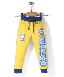 Red Ring Track Pant Doraemon Print - Yellow