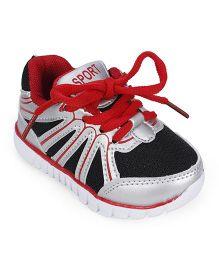 Cute Walk Sports Shoes - Black Red