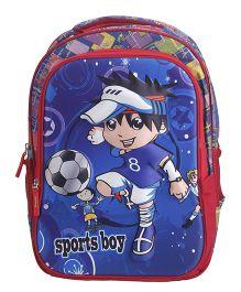Bags & Baggage School Bag Sports Boy Print - Blue