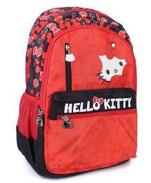 Hello Kitty Logo Print School Bag Red - 17 inches