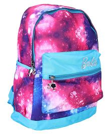 Barbie School Bag Galaxy Print Blue and Pink - 15 inch