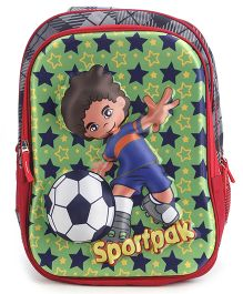 Bags & Baggage School Bag Sportpak Print - Green