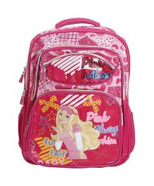 Bags & Baggage School Bag Pink is Always in Fashion Print - Pink