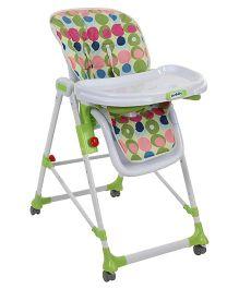 Sunbaby Deluxe High Chair Polka Dot Print - Green