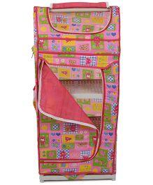 Luvely Kids Almirah Multi Print - Pink
