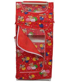 Luvely Almirah Bear Print - Red