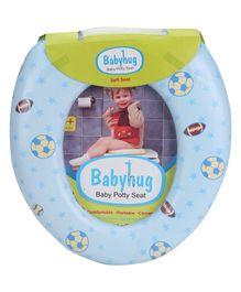 Babyhug Soft Cushioned Baby Potty Seat Football And Star Print - Sea Blue