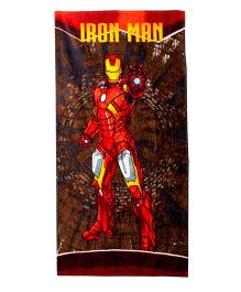 Marvel Iron Man Bath Towel - Red & Brown