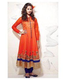 Peek a Boo Anarkali Ethnic Dress - Orange