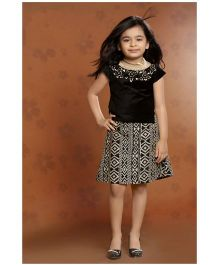Peek a Boo Stunning Party Top & Skirt Set - Black