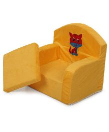 Luvely Kids Chair Cat Design - Yellow