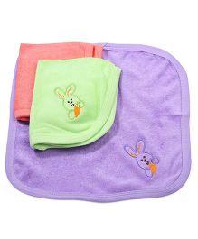 Simply Wash Cloth Rabbit Print - Pink Green Purple