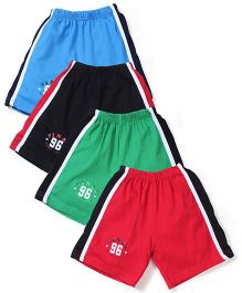 Simply Final 96 Print Pack Of 4 Shorts - Red & Blue