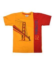 Joshua Tree California Print T-Shirt - Orange & Red