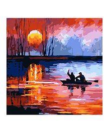 Madsbag DIY Figure Oil Painting - Boat