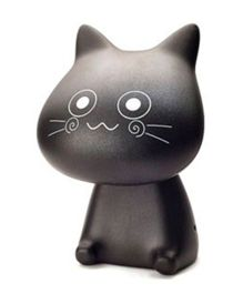 Madsbag LED Table Night Lamp Cat - Black