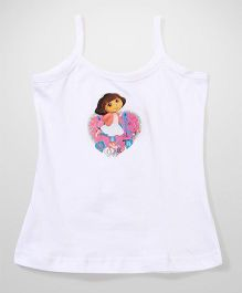 Dora Printed Singlet Slip - Off White