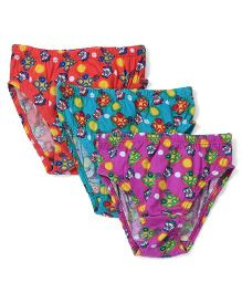 Dora Printed Panties Pack of 3 - Red Green Purple