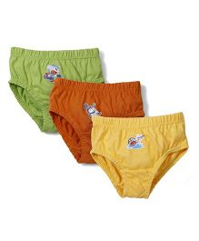 Doraemon Briefs Set Of 3 - Green Yellow Brown
