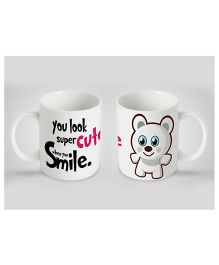 Stybuzz Kids Ceramic Mug Cute Smile Print Multicolor 300 ml - Single Piece