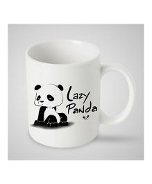 Stybuzz Kids Ceramic Mug Lazy Panda Print White & Black - 300 ml