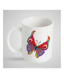 Stybuzz Kids Ceramic Mug Butterfly Print Multicolor - 300 ml
