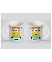 Stybuzz Kids Ceramic Mug Minions Print White & Yellow 300 ml - Single Piece
