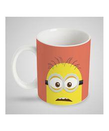 Stybuzz Kids Ceramic Mug Minion Print White & Yellow - 300 ml