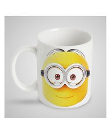 Stybuzz Kids Ceramic Mug Minion Print White & Yellow - 300 ml