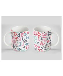 Stybuzz Kids Ceramic Mug Alphabet Print Multicolor 300 ml - Single Piece