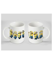 Stybuzz Kids Ceramic Mug Minion Print White 300 ml - Single Piece