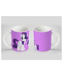 Stybuzz Kids Ceramic Mug Princess Print White & Purple 300 ml - Single Piece