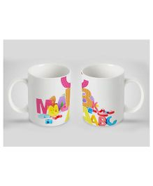 Stybuzz Kids Ceramic Mug Print White 300 ml - Single Piece