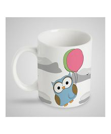 Stybuzz Kids Ceramic Mug Owl Print White - 300 ml