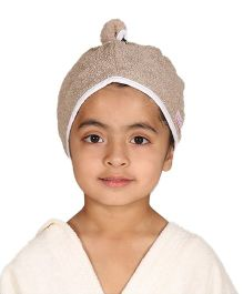 Mumma's Touch Organic Cotton Kids Hair Wrap Towel – Beige