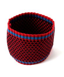 Little Hip Boutique Knitted Head Warmer - Red & Blue